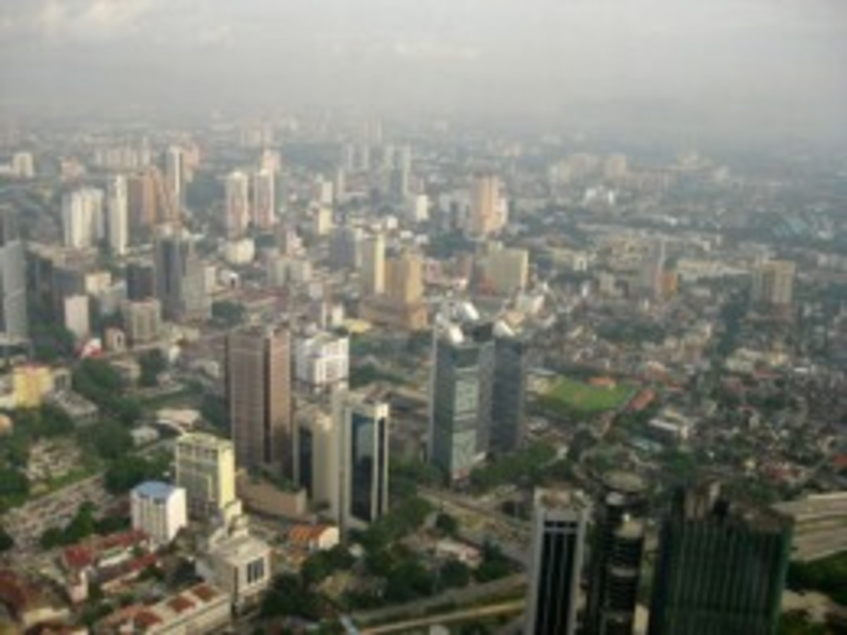 The view from the Menara (KL Tower).