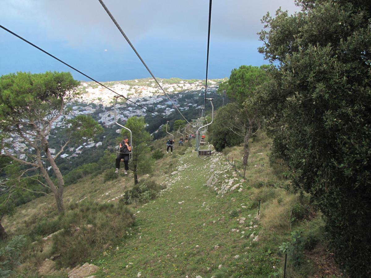Mount Solaro Chair lift.