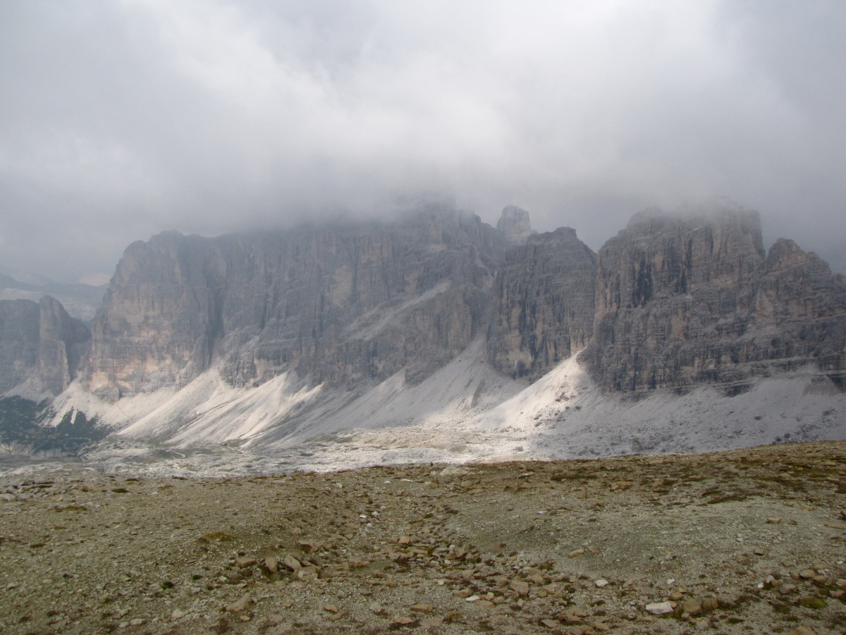 View of the Dolomites from the top of Lagazuoi during our visit
