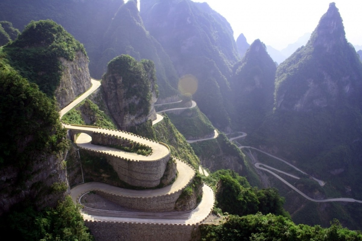 Tianzi mountain roads is one of the most dangerous in the world..