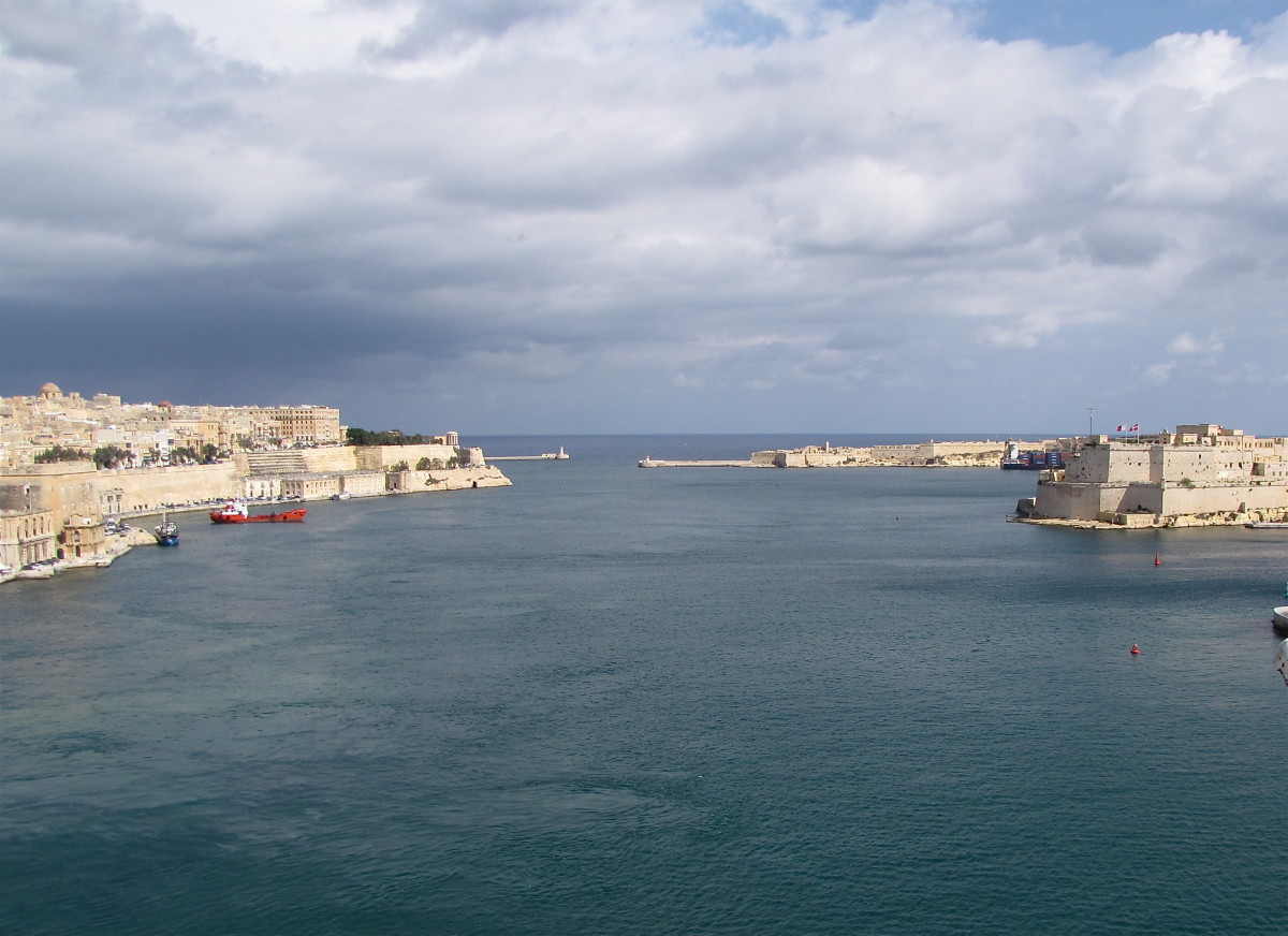 Grand Harbor of Valletta where much of the fighting during the Great Siege took place.