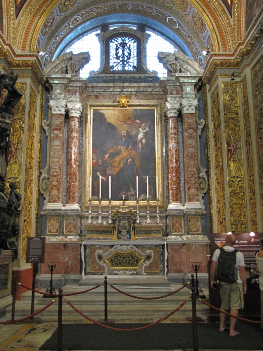 One of the nine Chapels, The Chapel of the Langue of Aragon
