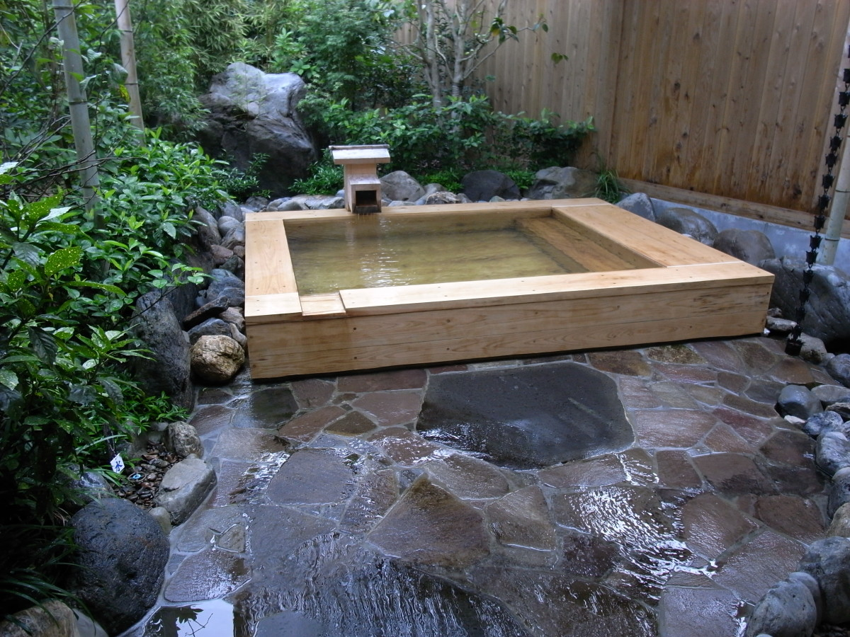 A private onsen bath.