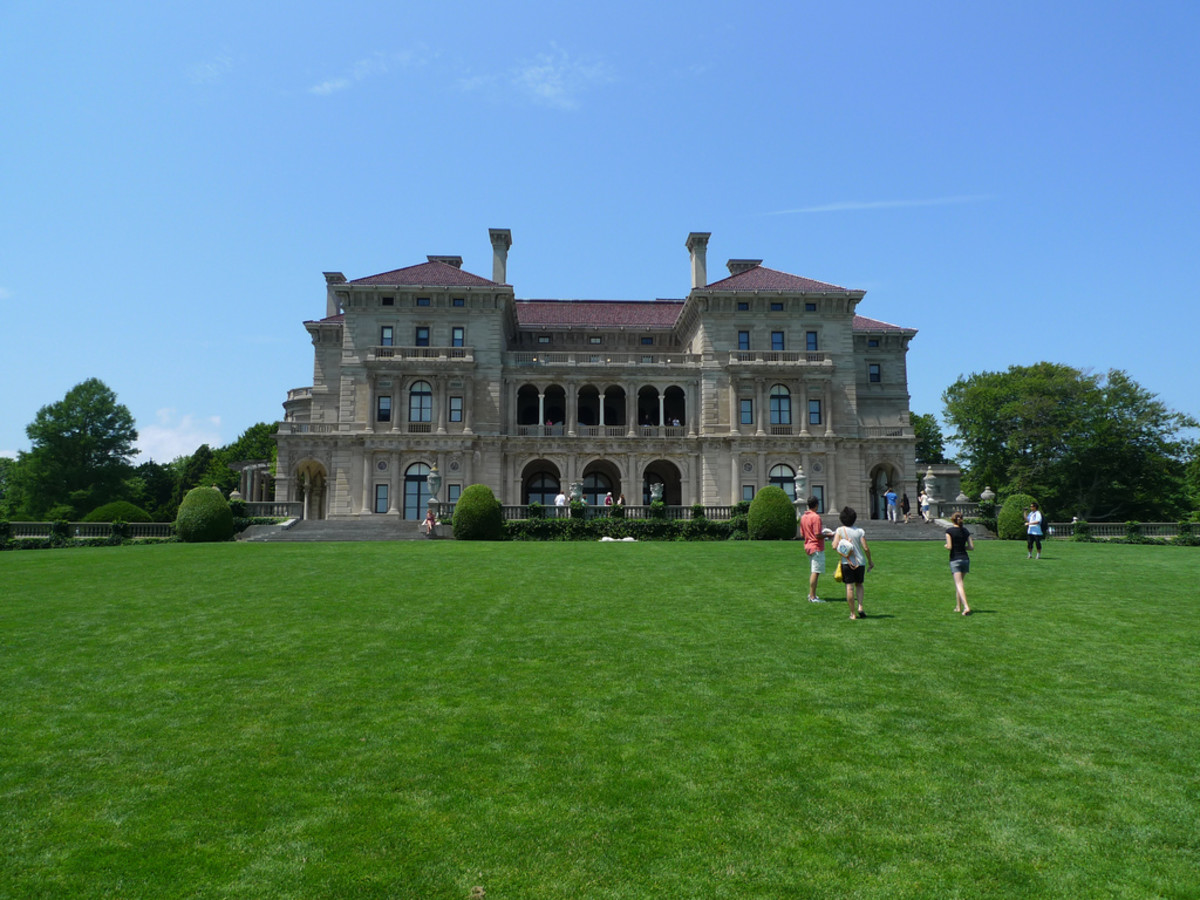 The Breakers is a 65,000 sq. foot mansion that holds over 60 rooms. In today's money, it would have cost around $150 million to build. It is now a National Historic Landmark and owned and operated by the Preservation Society of Newport County.