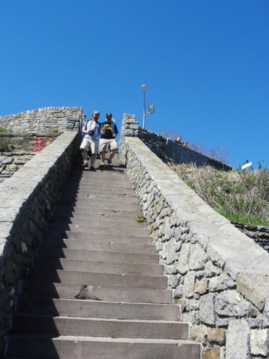 The 40 Steps were once an area used by servants and workers of the castles to dance and sing.