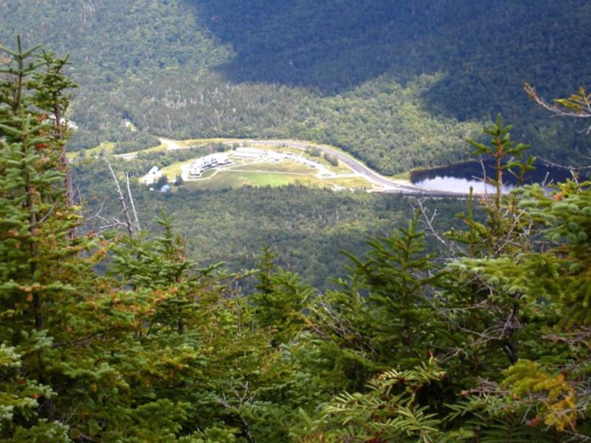 View of the Highland Center from the summit of Mt. Avalon. This mountain has some of the best views.