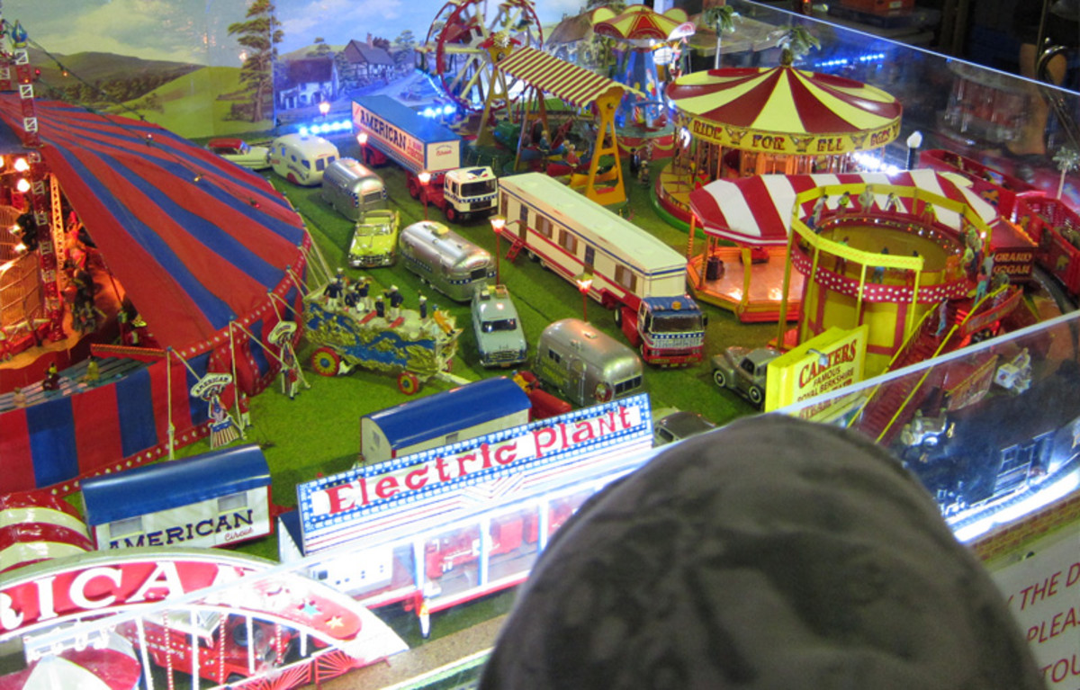 View of the minature carnival rides.
