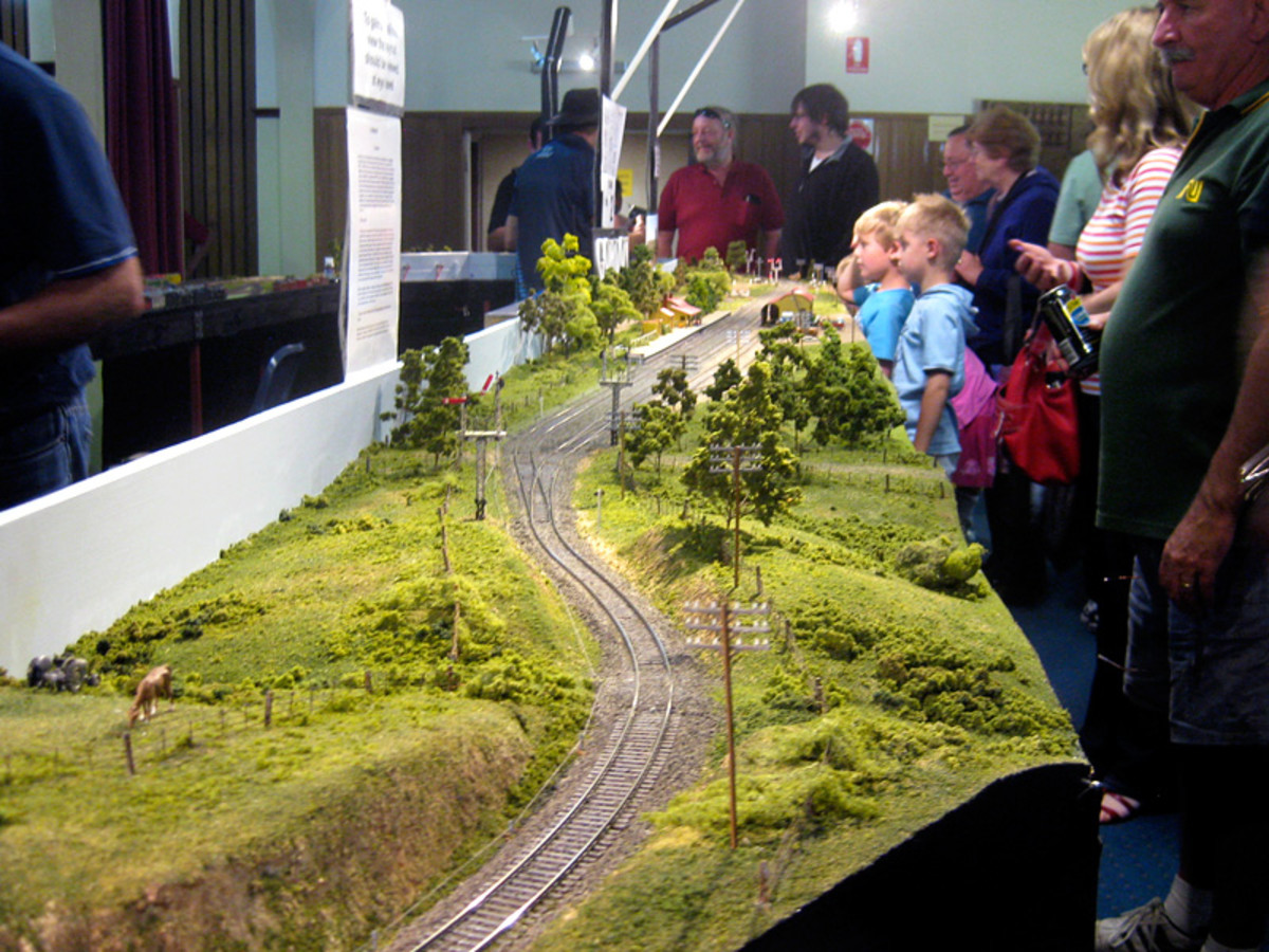 The display of Gordon station and the Ballarat railway line spans many metres and the landscape is true to life.