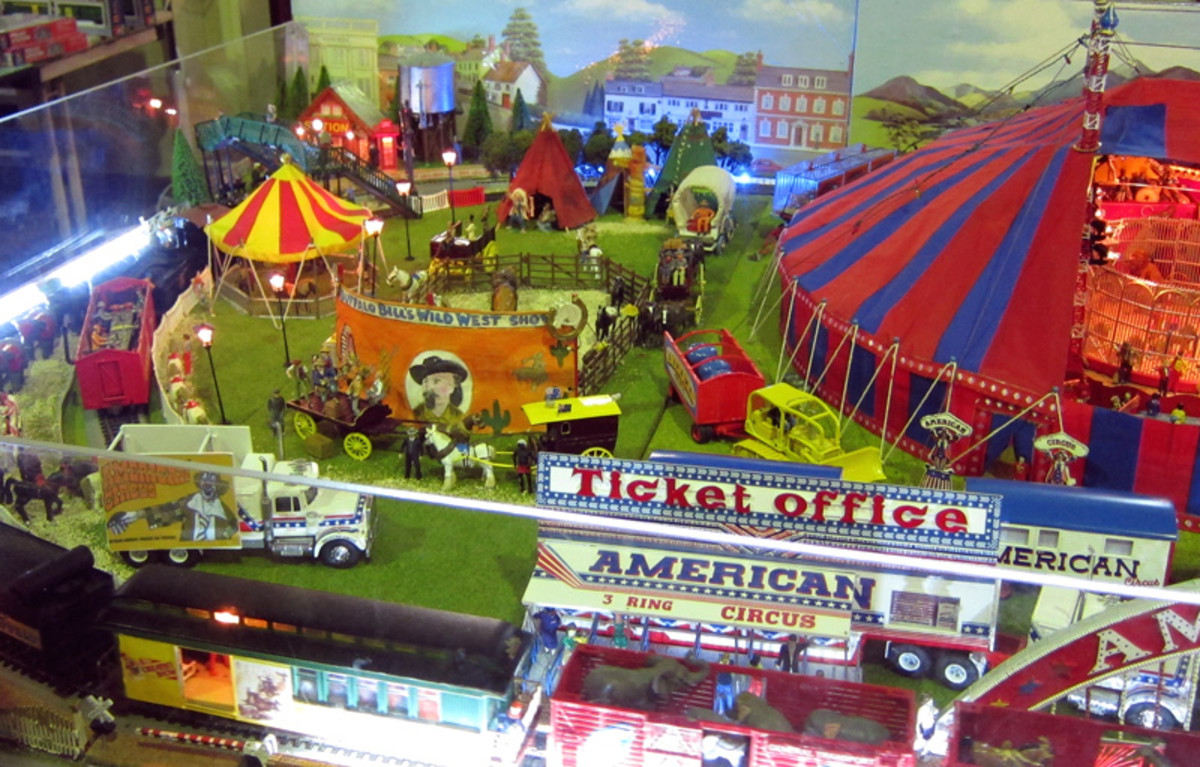 Buffalo Bill's Wild West and some of the other attractions near the Big Top.