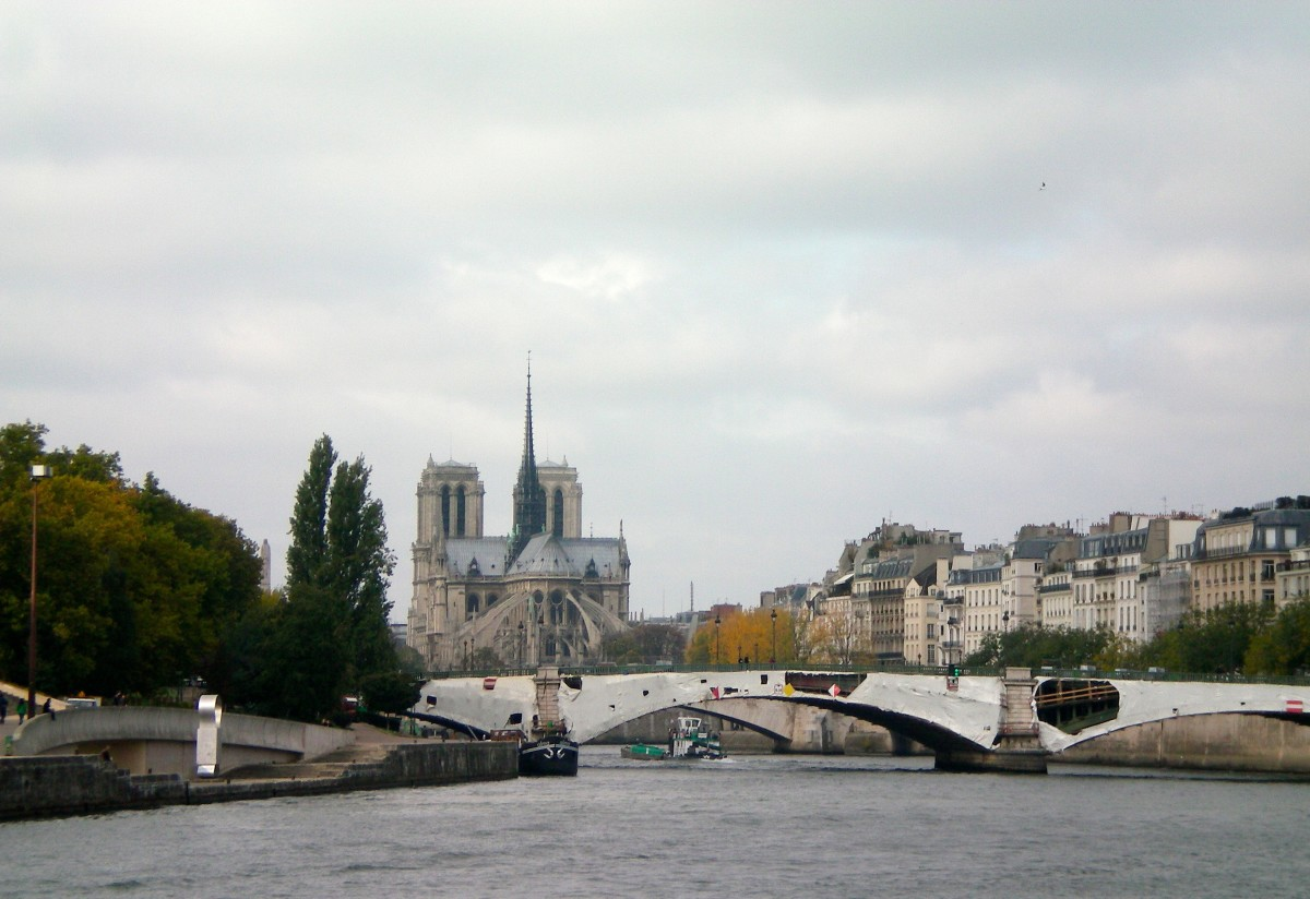 Notre Dame floating above the Seine (c) A. Harrison