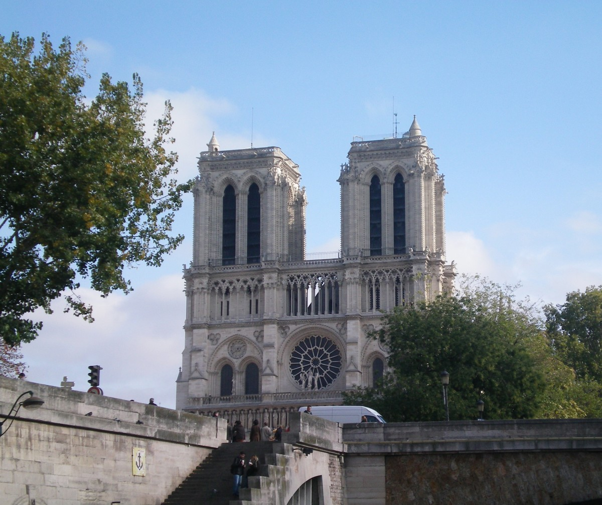 Towers of the Notre Dame dominate the skyline (c) A. Harrison