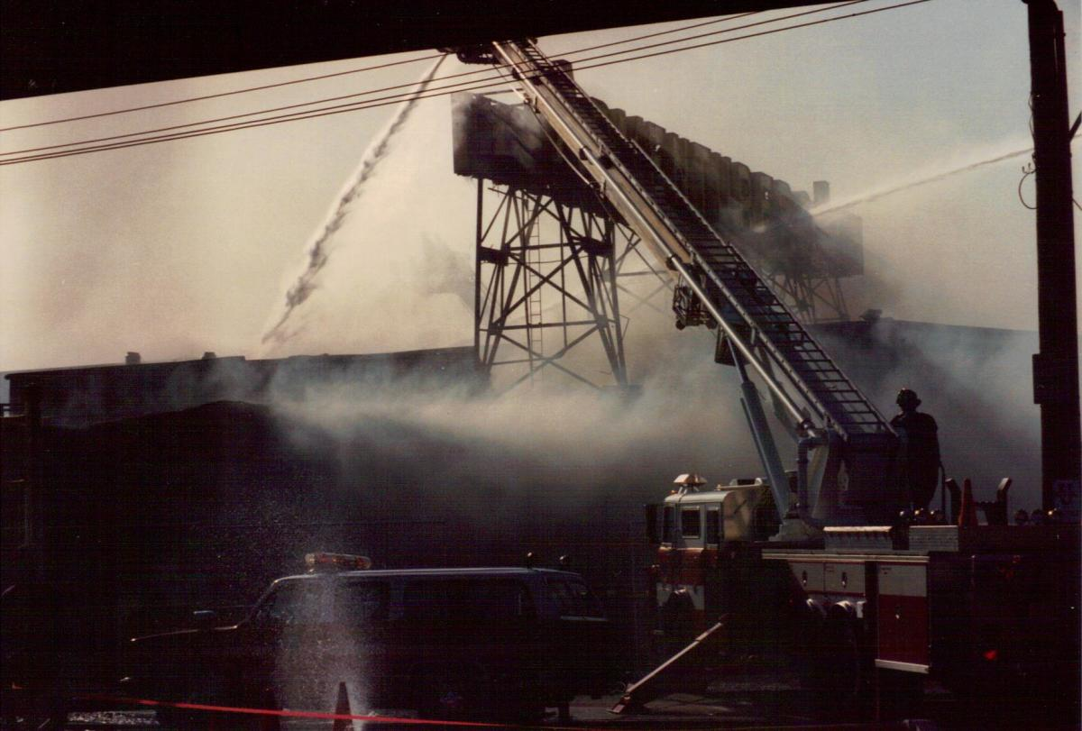 Adventurer's Inn's last gasp. The amusement park long gone, only the arcade and restaurant were left. An arsonist set the arcade on fire in 1984.