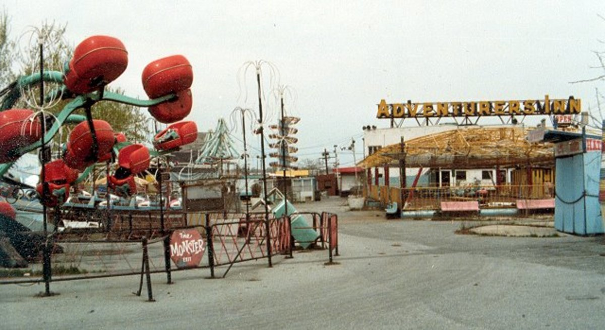 The city shuttered the amusement park, but failed to provide security guards. In no time thieves stripped the rides for parts and vandals smashed what was left.