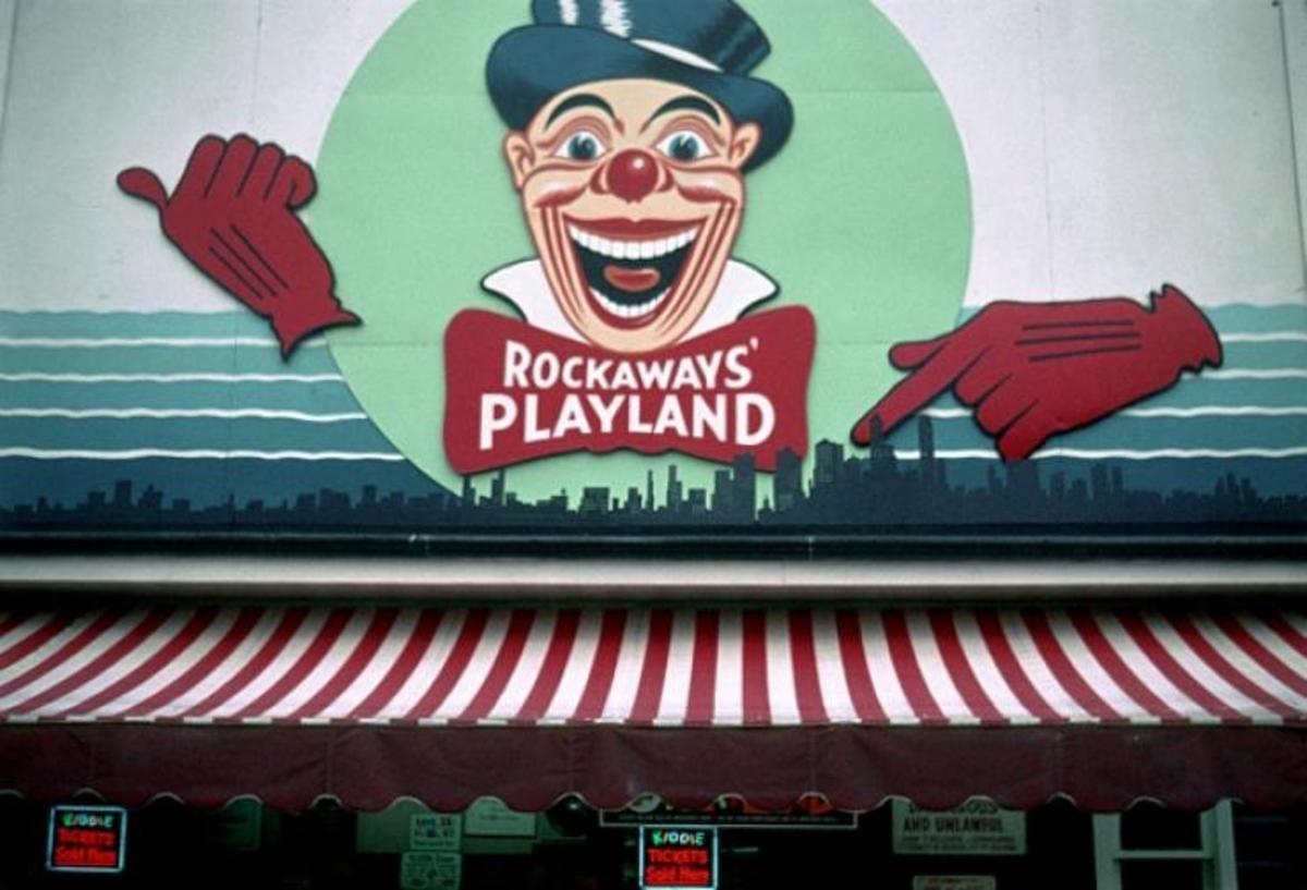 This clowns head was the company logo for Rockaway Playland for decades.