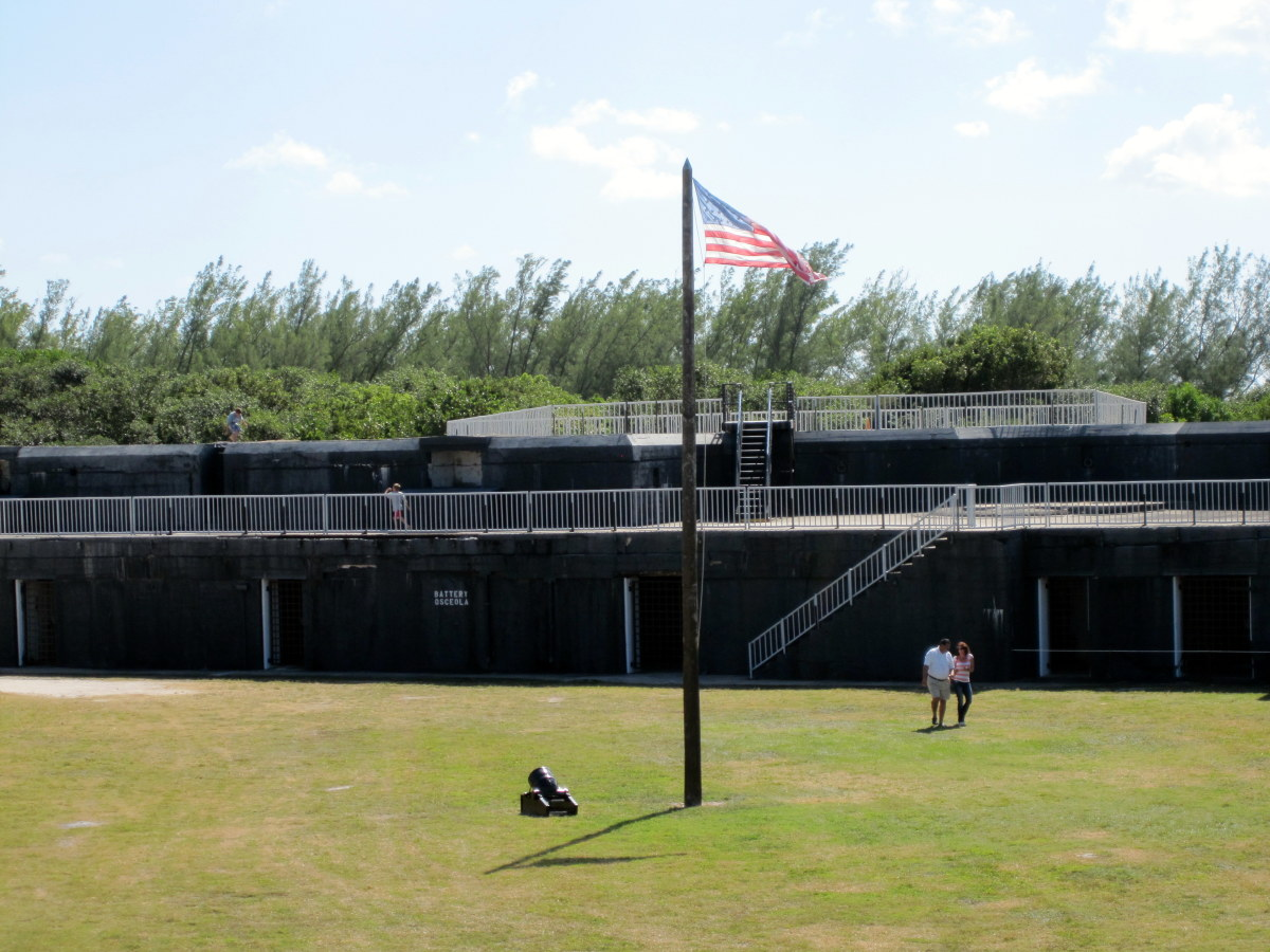 Battery Osceola was another Spanish-American War addition.