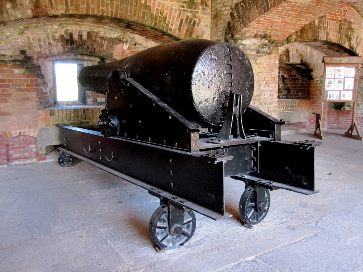 The fort's big guns played an important role in deterring ships from entering Confederate ports during the Civil War.