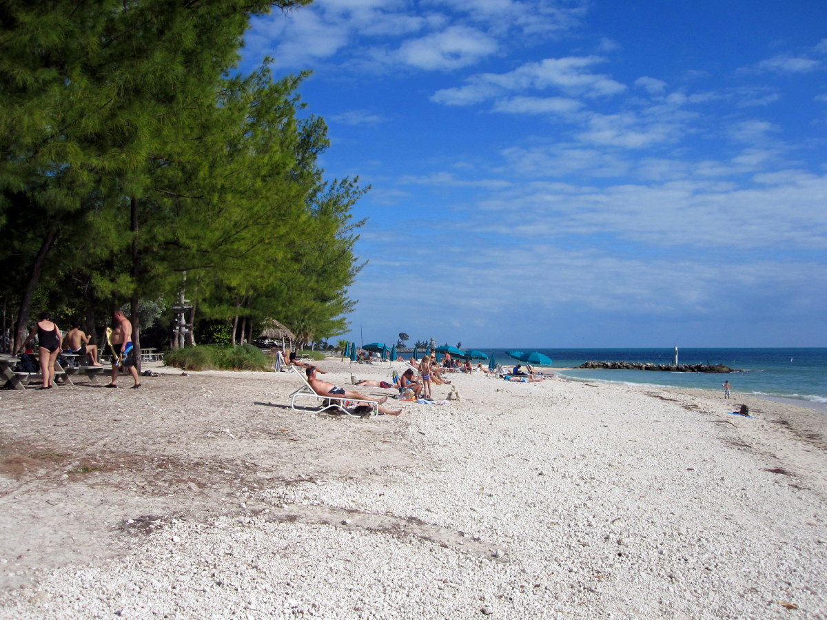 The beach at Fort Zachary Taylor State Park