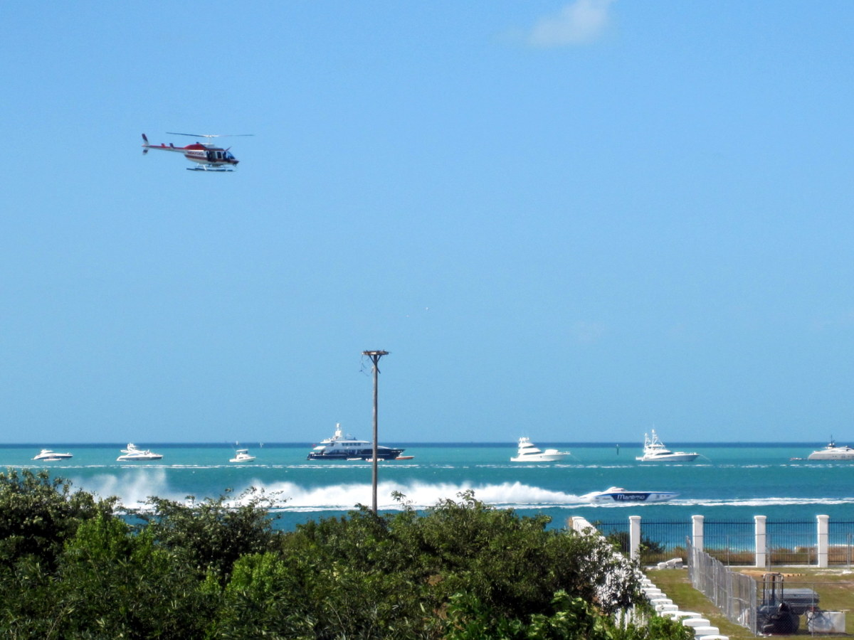 The top of the fort makes a great place to watch the Key West speed boat races, which are held every November.