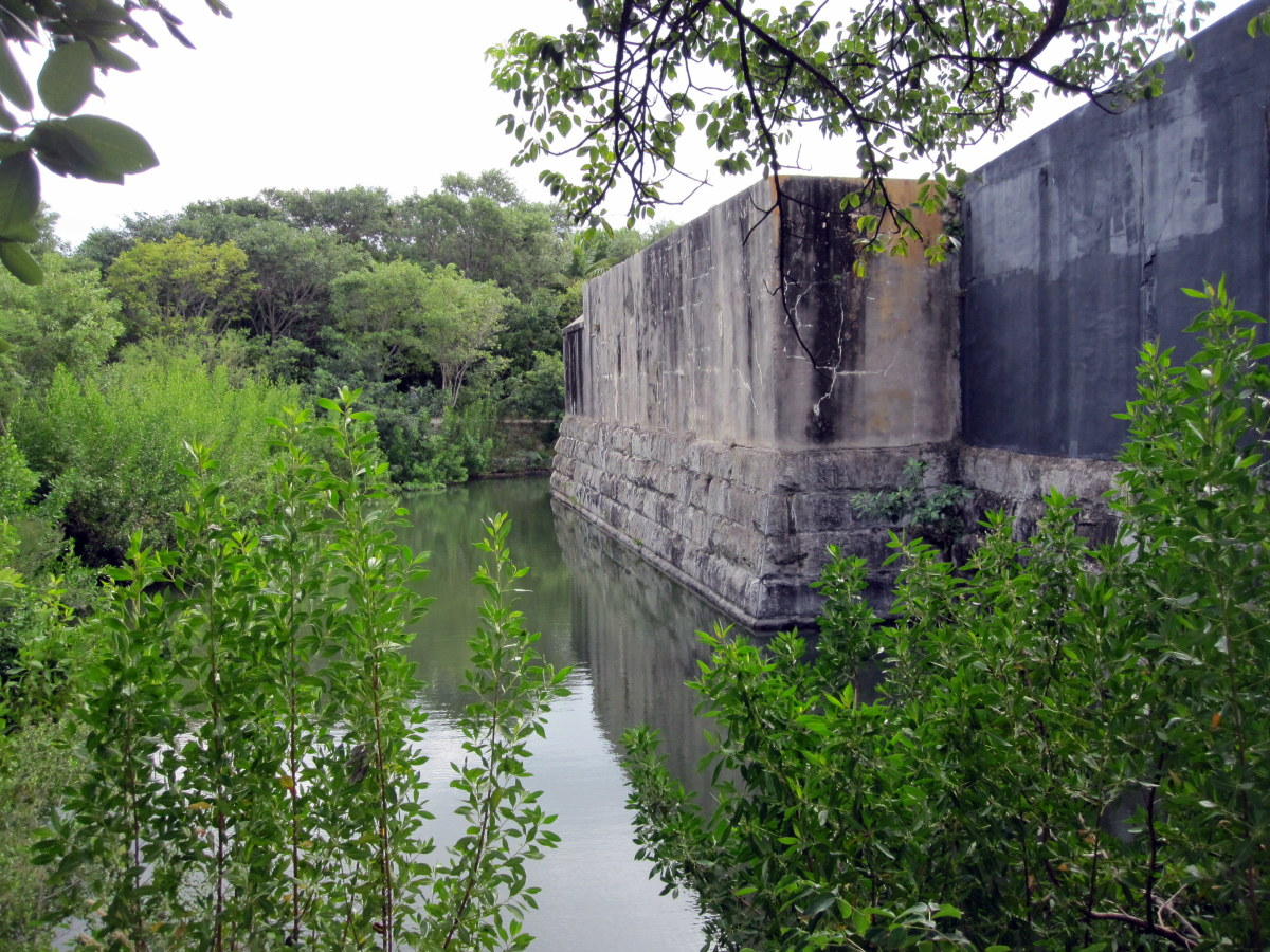 The moat is a relatively recent addition.