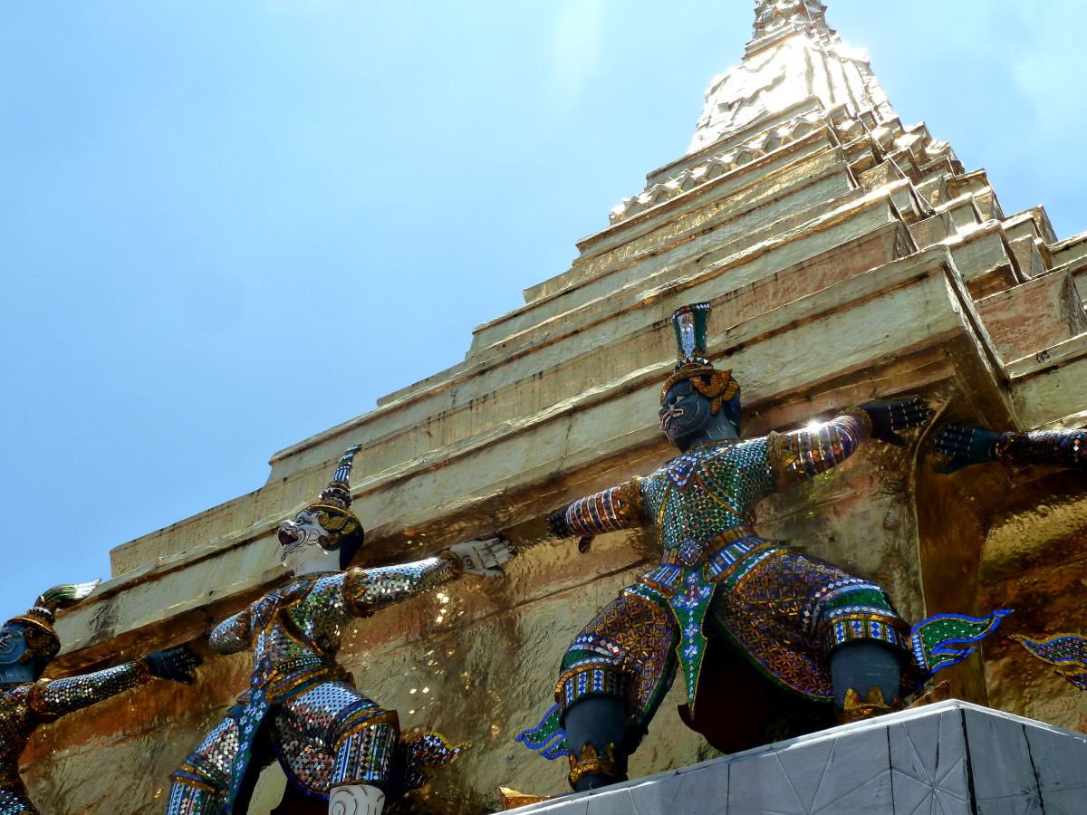 Visit The Grand Palace in Bangkok, built in 1782. Containing 218,000 square meters inside its four walls, including the Temple of the Emerald Buddha.