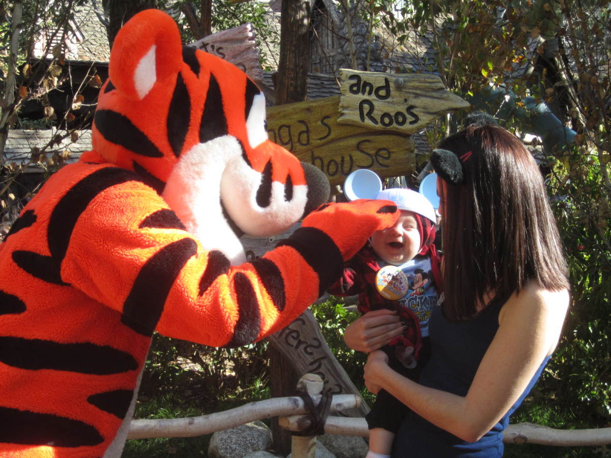 Here he is saying hi to Tigger!