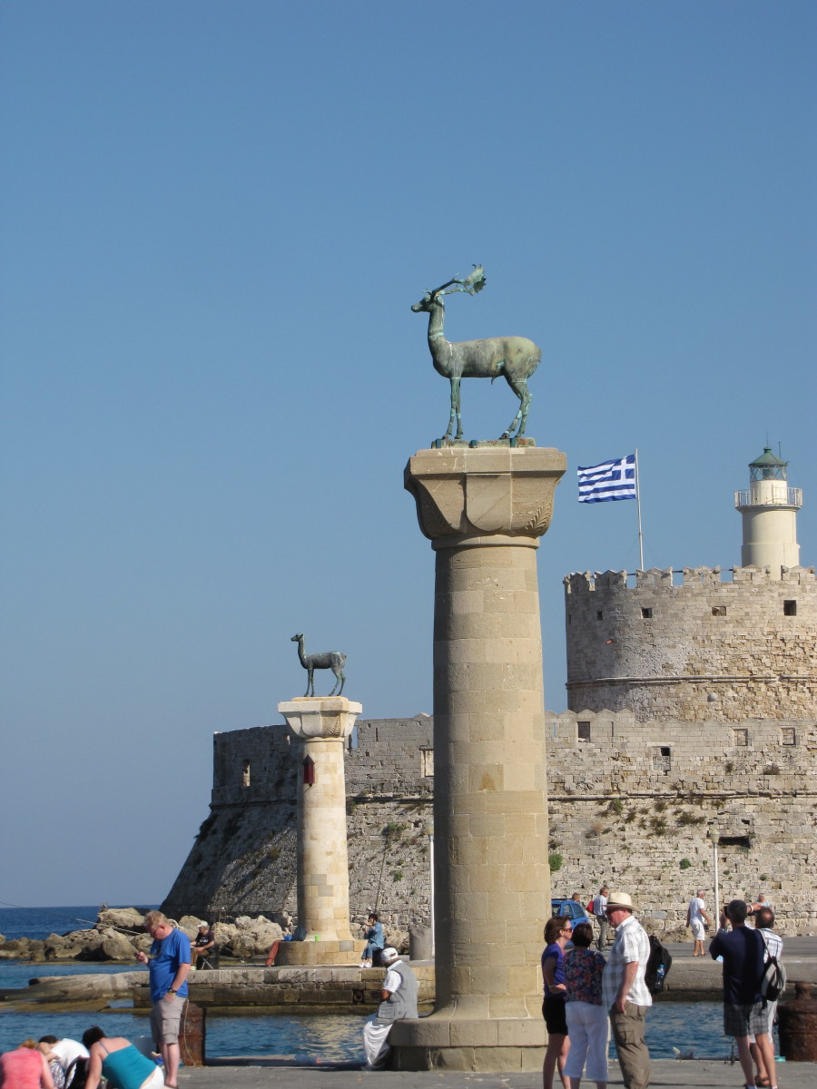 Statues of the Stags - Site where the Colossus of Rhodes once stood.