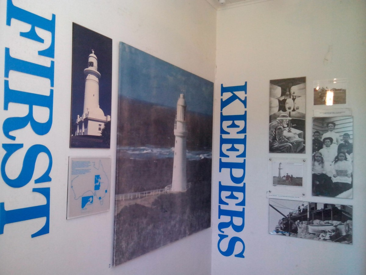 Museum displays with detailed information of innkeepers and the lighthouse.