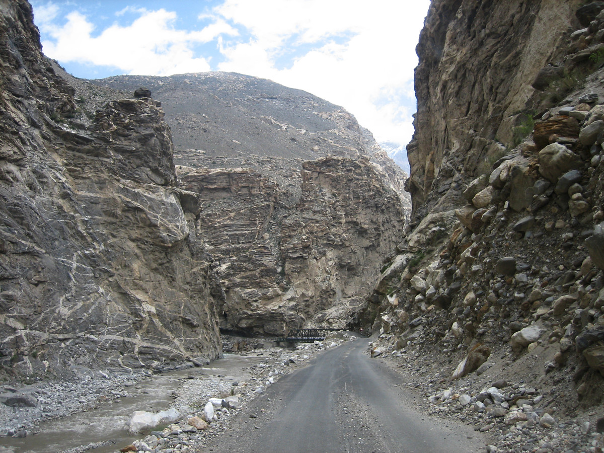Khab, the confluence of Sutlej and Spiti rivers