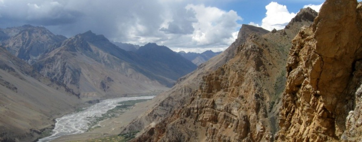 Panoramicc view from the Hindustan Tibet Road