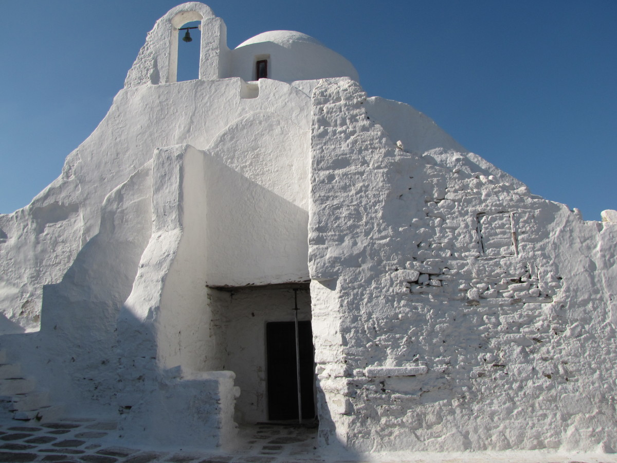 Panagai Paraportiani - the most famous church on Mykonos.