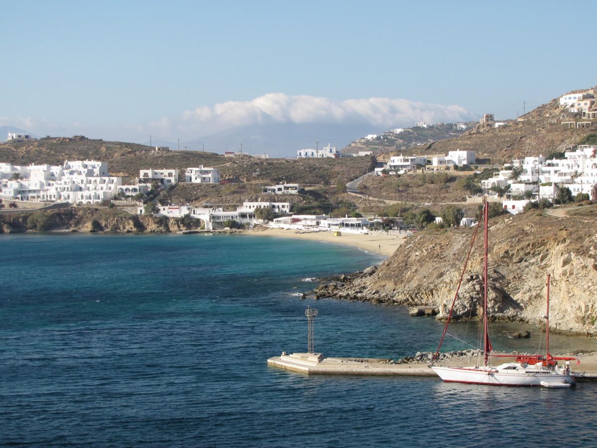 Agios Stefanos Beach - Our private beach for the afternoon.