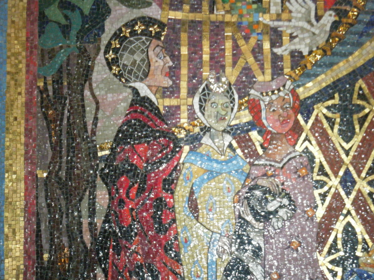 The mosaic in the castle