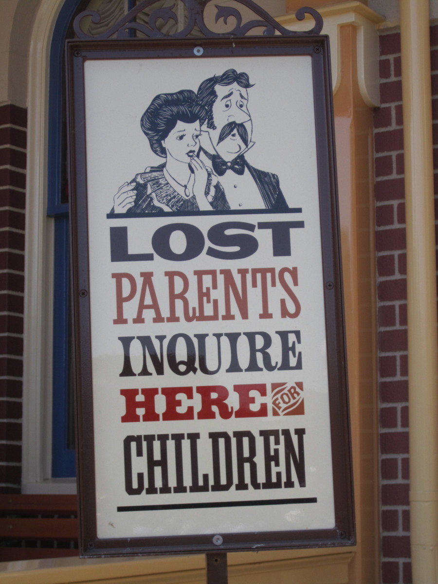 The lost parent's poster in front of City Hall on Main Street.