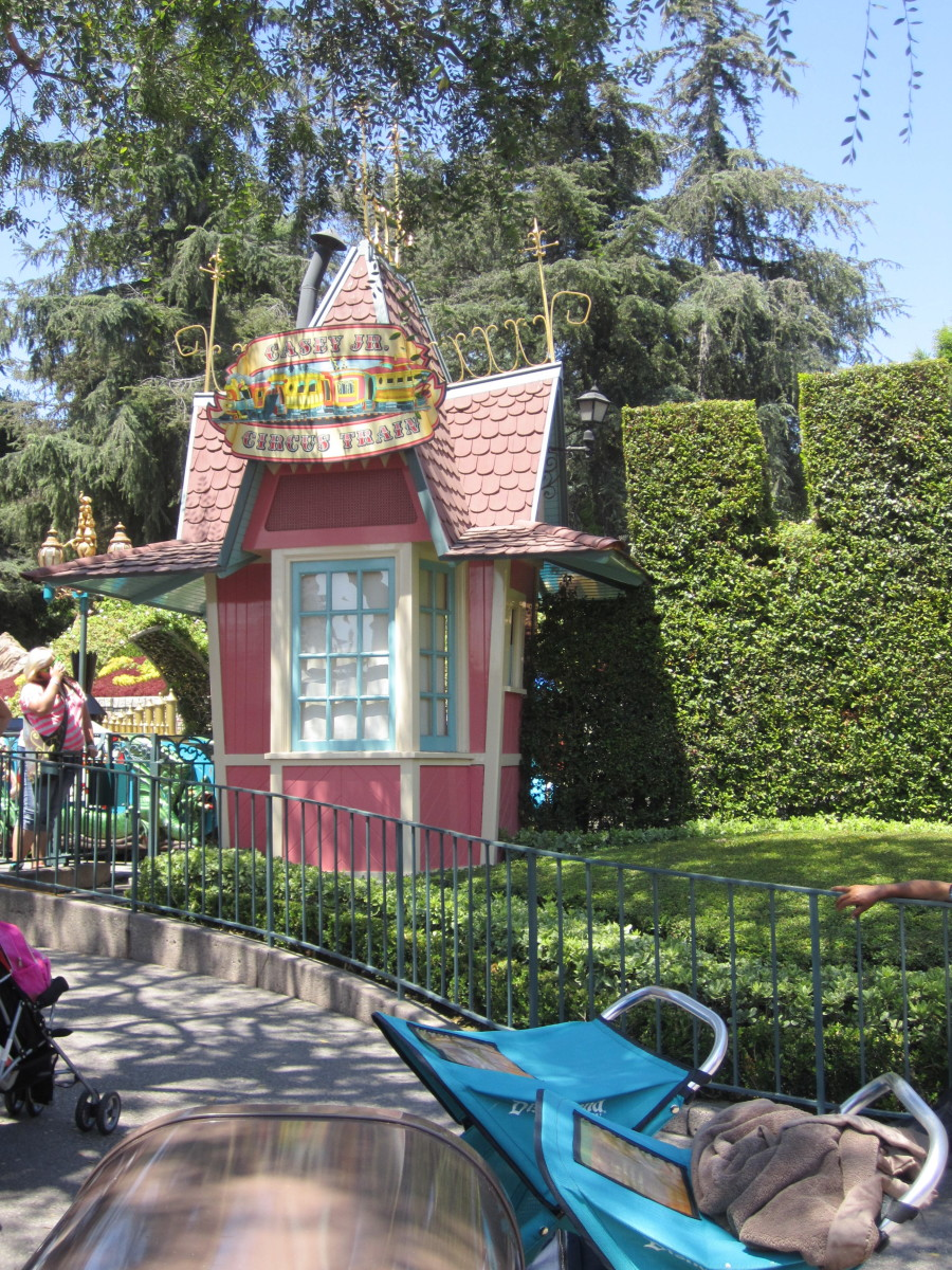 Here is the ticket booth for Casey Junior Circus Train inside of Fantasyland.
