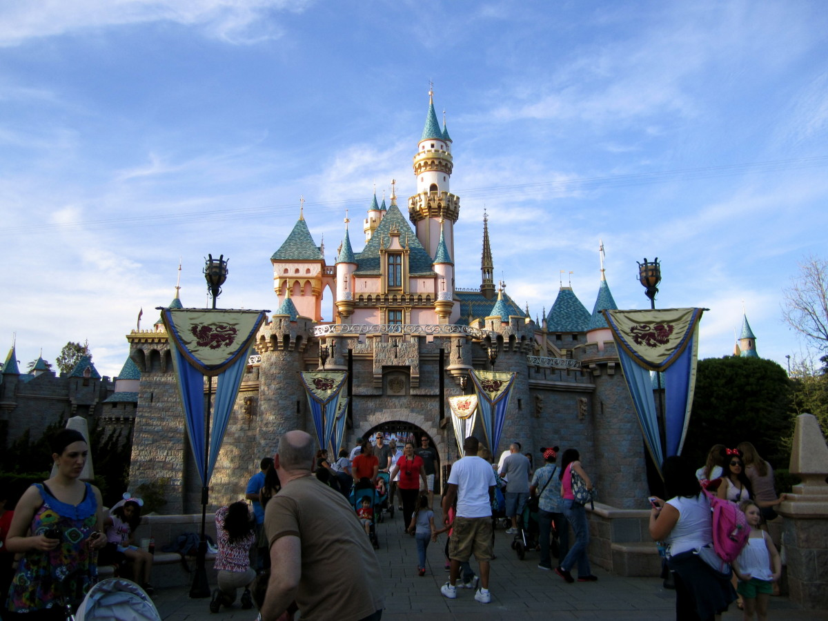 Here is the front of Sleeping Beauties Castle which is really the back!