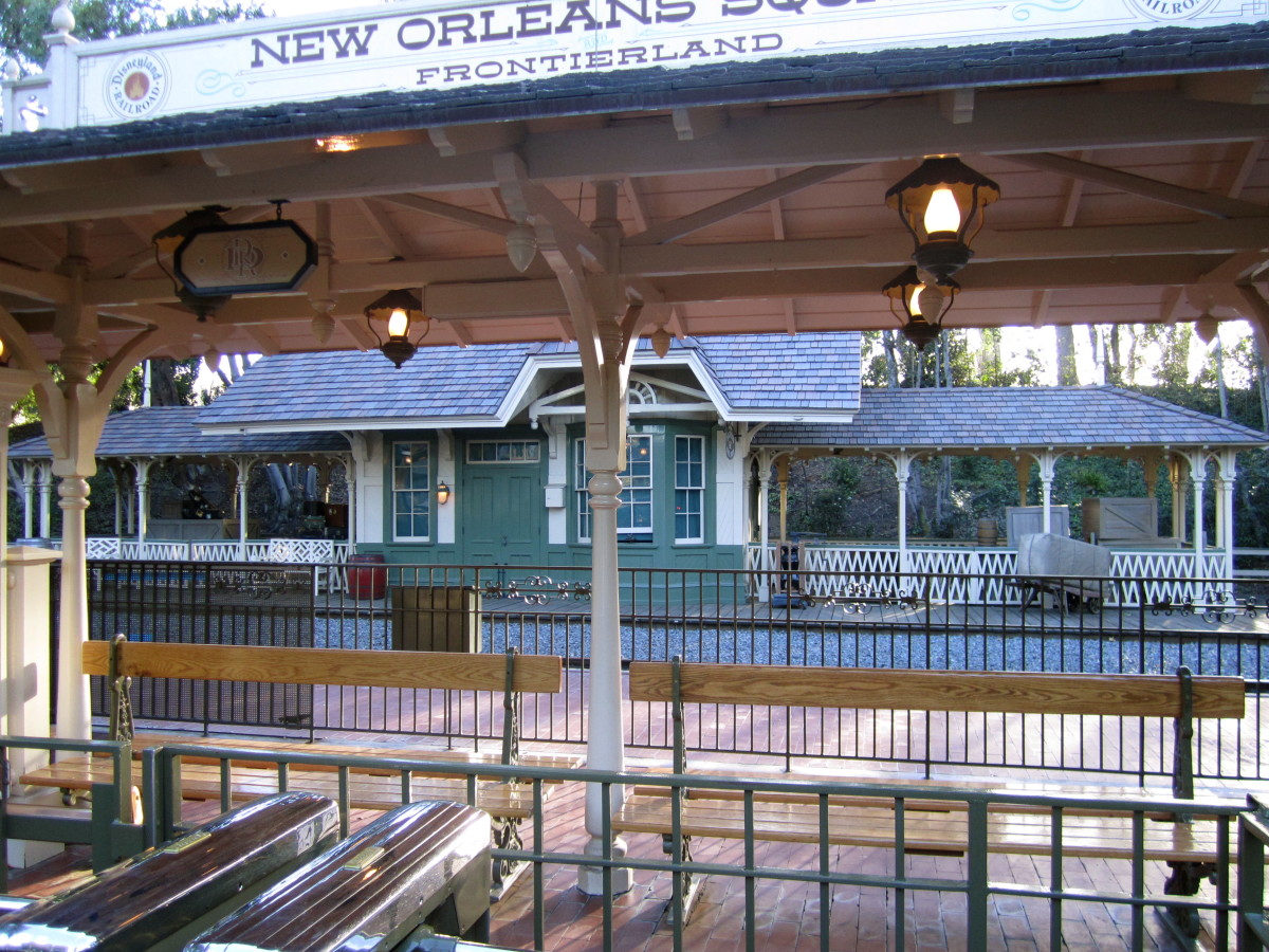 This is the train station in New Orleans Square.