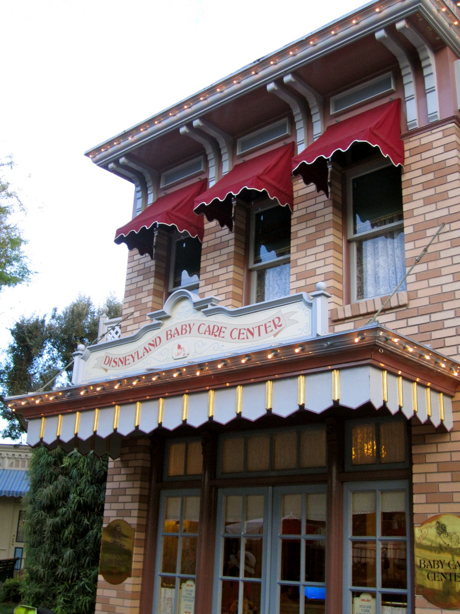 Here is the Disneyland Baby Care Center located by the corn dog cart off of Main Street USA.