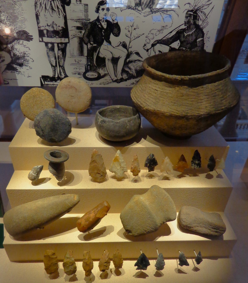 Artifacts of the original Americans.  Photo by author.