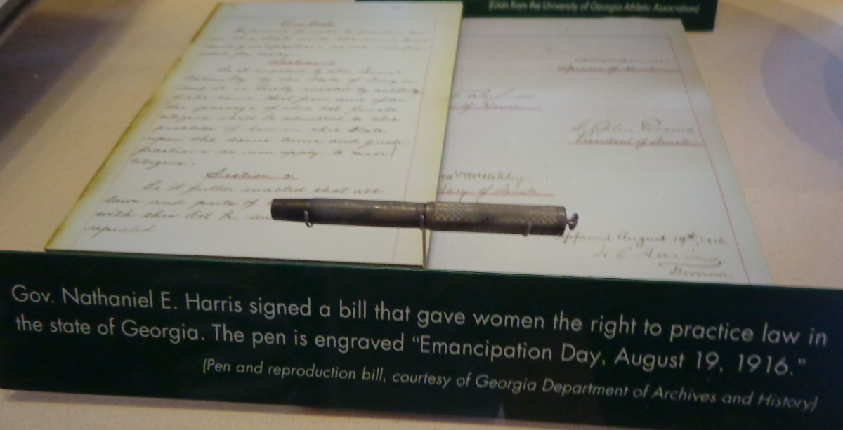 "The ""Emancipation Day"" pen.  Photo by author."