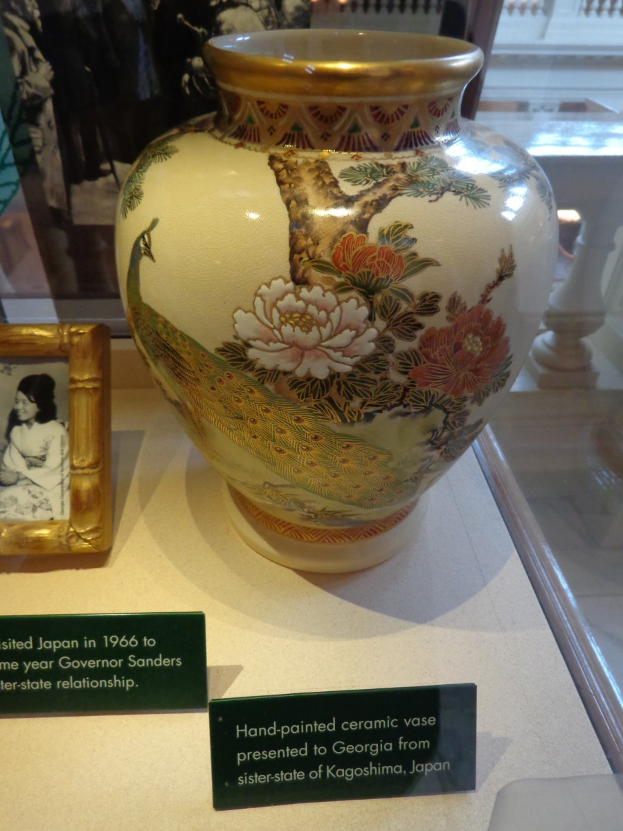 "The ""Kagoshima Vase""--culturally significant as a gift from Georgia's 'sister state' in Japan, but sheerly beautiful as well.  Photo by author."