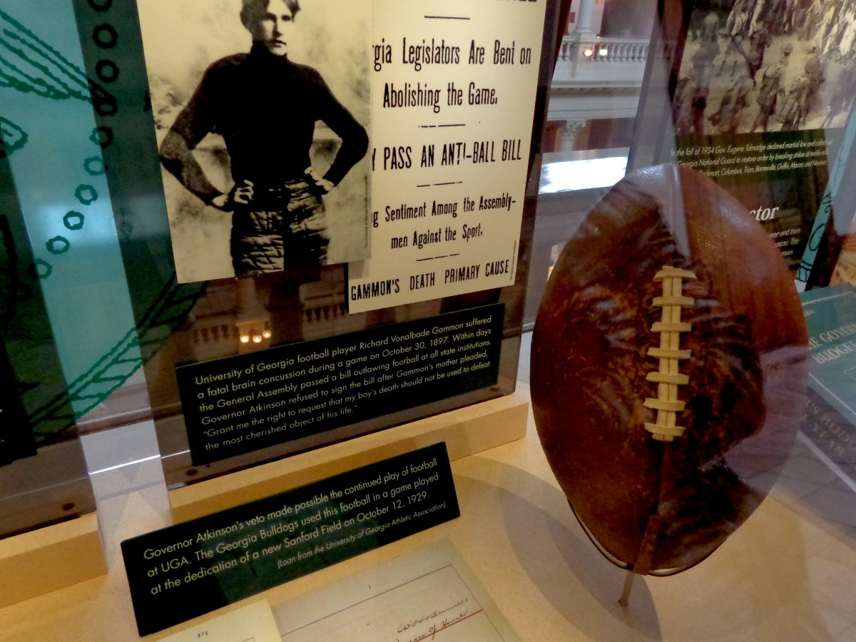 It wouldn't be the South if football weren't acknowledged.  But it might not have been that way.  Photo by author.