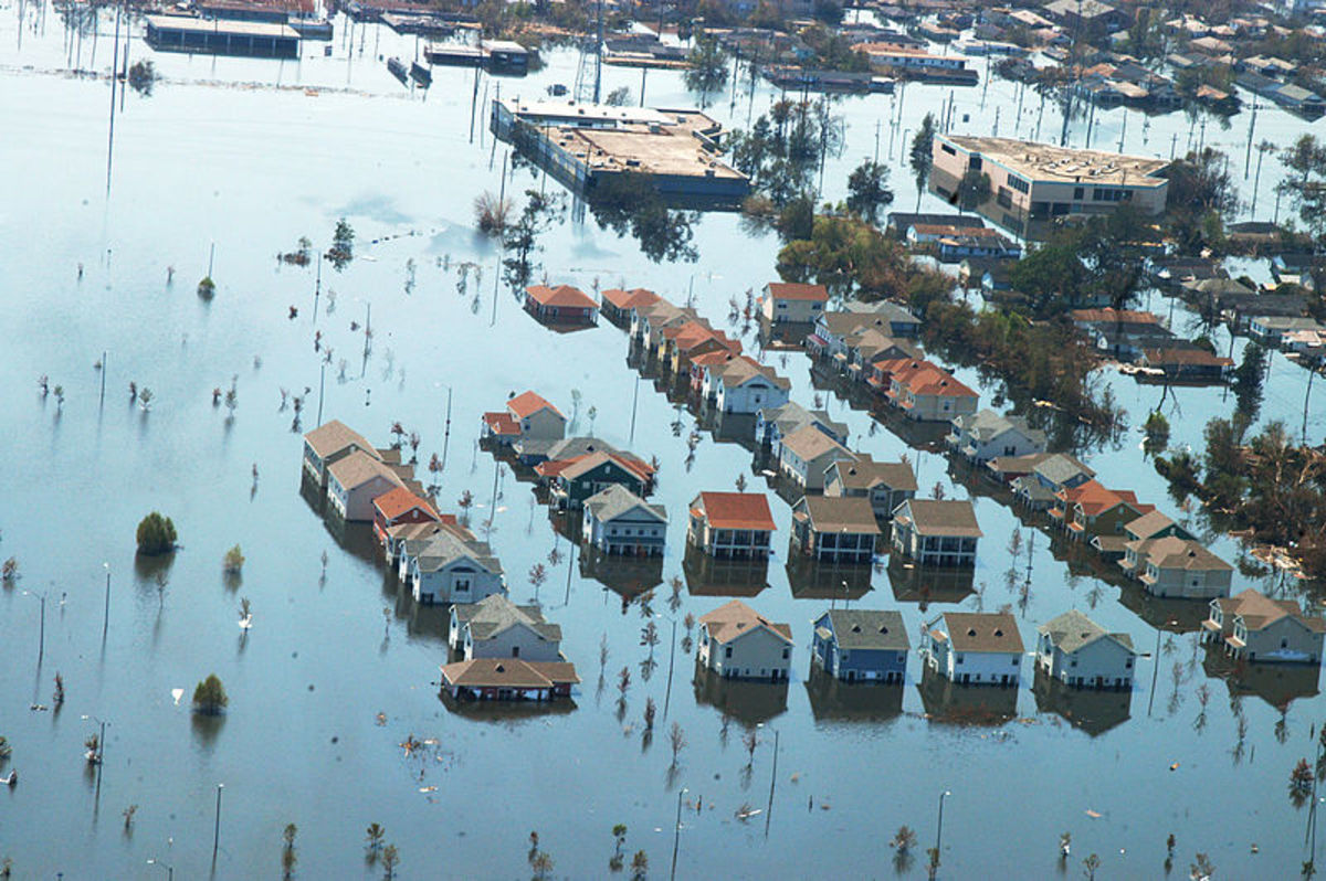 New Orleans after Hurricane Katrina in 2005