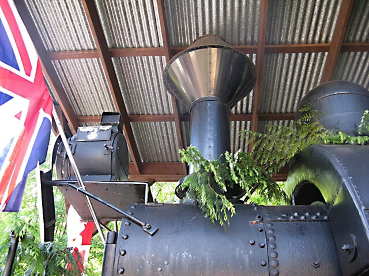 A steam locomotive at the museum