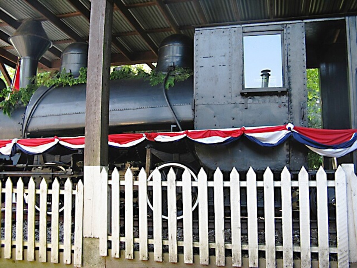 Another view of the steam locomotive