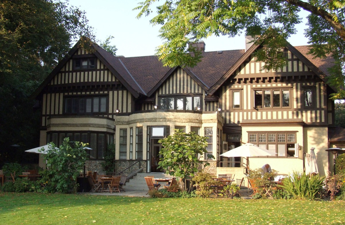 A rear view of the Hart House Restaurant, which was known as Avalon when it was the residence of Frederick and Alice Hart