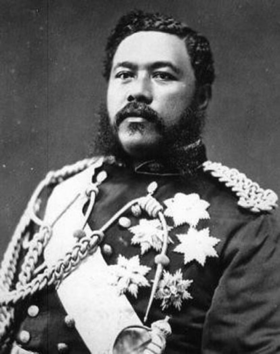 King David Laʻamea Kamananakapu Mahinulani Naloiaehuokalani Lumialani Kalākaua, often called the Merrie Monarch.