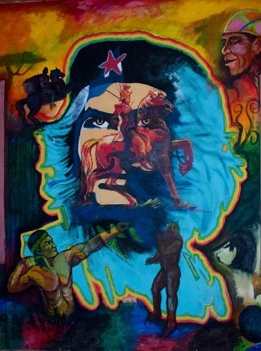 Mural of Che Guevara, La Esperanza, Intibucá