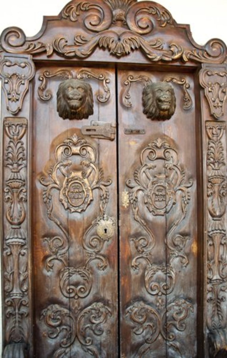 Antique carved door, Tegucigalpa