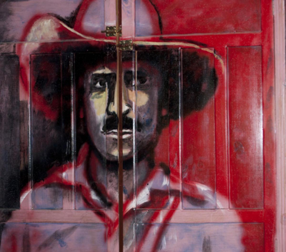 Door painting of Augusto Sandino, La Esperanza, Intibucá