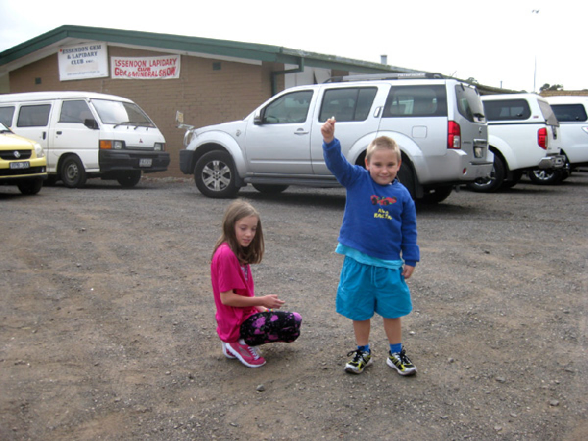 Carpark fossicking is great fun for the kids. All you need to do is attend the show and look in the carpark before or after visiting to find gemstones on the ground.